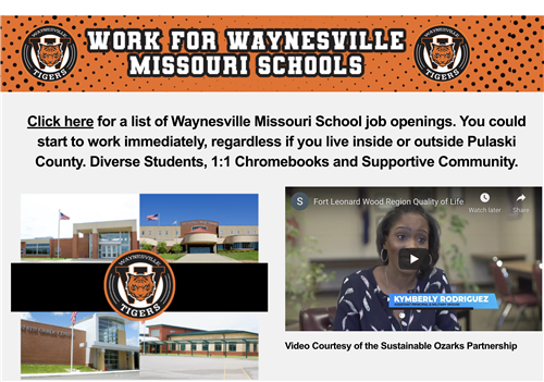 Work for Waynesville Missouri Schools